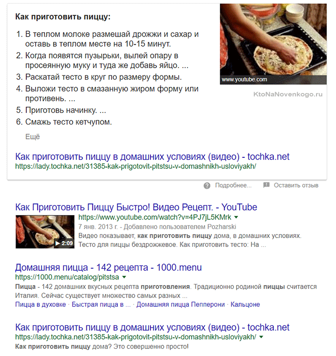 запрос приготовление пиццы
