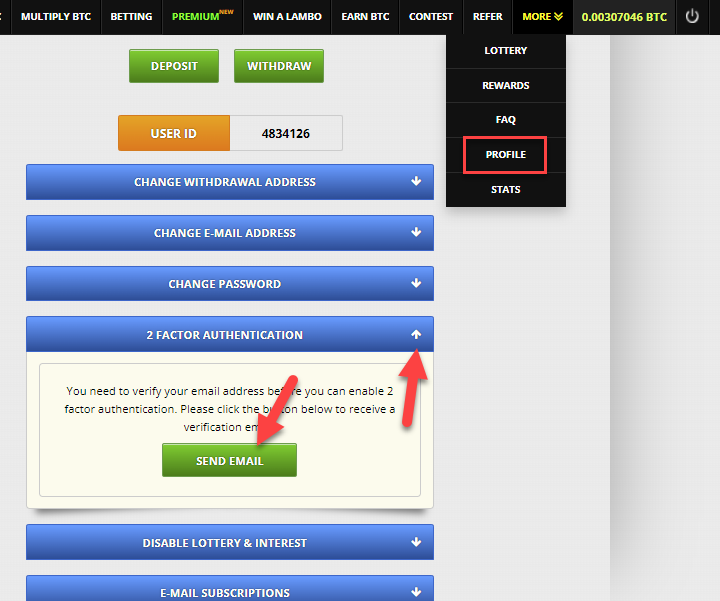 Защищаем вход на сайт FreeBitcoin