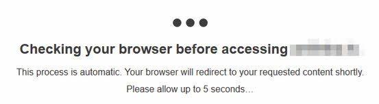 Сайт под защитой CloudFlare