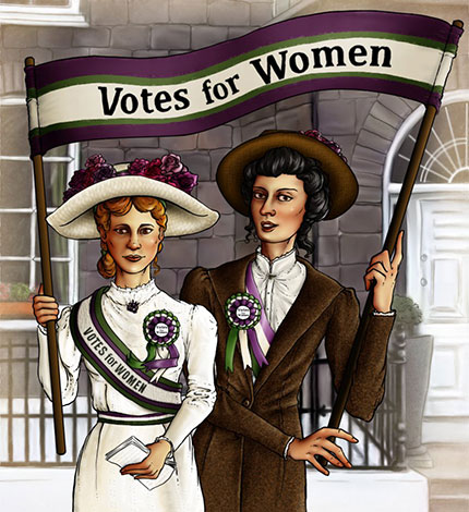 Демонстрация женщин борющихся за свои права